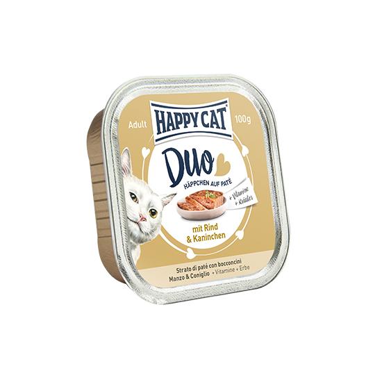 Happy Cat - Duo Pástétomos Falatkák Marha-Nyúl
