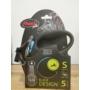 Kép 1/2 - Flexi Black Design S Szalag 5m 15 kg-ig